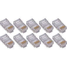 4XEM 100PK Cat5e RJ45 Ethernet PlugsConnectors