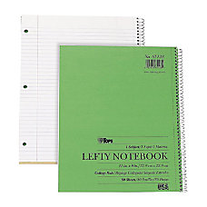 TOPS Lefty Kraft College Ruled Notebook