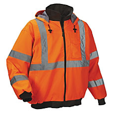 OccuNomix Polyester Bomber Jacket Large Orange