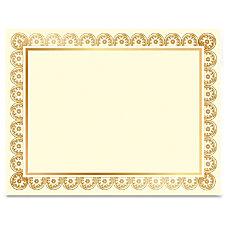 Geographics LaserInkjet Gold Foil Certificate Laser