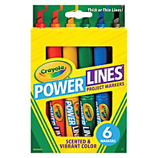 Crayola Power Lines 6 color Project