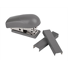 Office Depot Brand Mini Stapler Gray