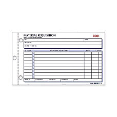 Rediform Material Requisition Purchasing Forms 50