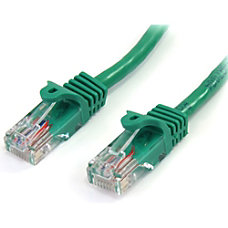 StarTechcom 25 ft Cat5e Green Snagless