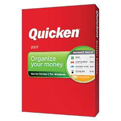 Quicken Starter Edition 2017 Traditional Disc