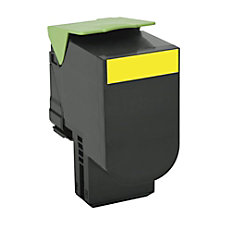 Lexmark 80C1XY0 High Yield Yellow Toner