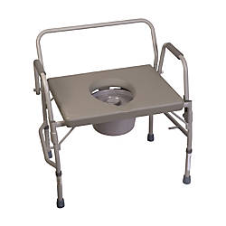 DMI Bariatric Drop Arm Bedside Commode