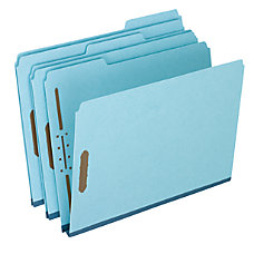 Globe Weis Colored Pressboard Tab Folders