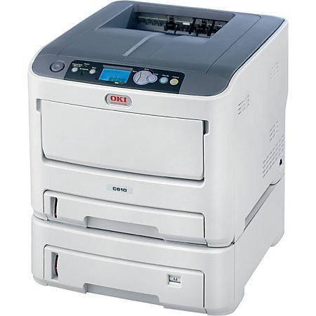 Oki Data C610DTN Color Laser Printer By Office Depot