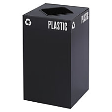 Safco Recycling Receptacle 25 Gallon Black