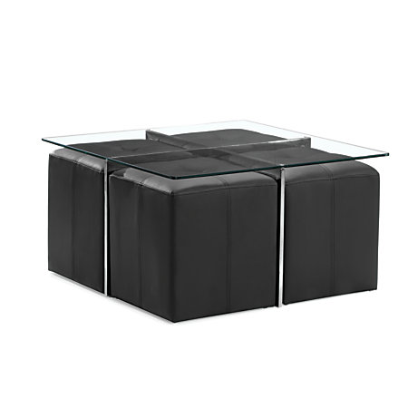 Zuo Modern Botero Coffee Table And Nesting Stool Set 19 H X 39 910 W X 39 910 D Glass By Office