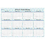 Blue Sky Erasable Yearly Laminated Wall