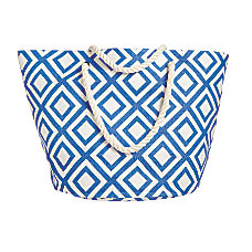 Orbit Large Straw Geometric Beach Tote