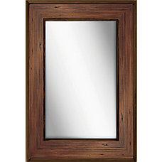 PTM Images Framed Mirror Bone Wood