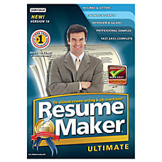 ResumeMaker Professional Ultimate Traditional Disc