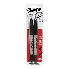 Sharpie Twin Tip Permanent Markers Black