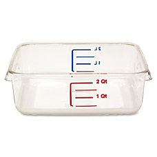 Rubbermaid Space Saving Square Container External