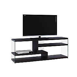 Monarch Specialties Glass TV Stand For