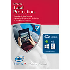 McAfee Total Protection 2016 For Unlimited