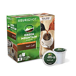 Green Mountain Coffee Pods Half Caff