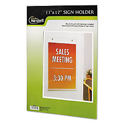 Nu Dell Vertical Wall Sign Holder