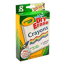 Crayola Dry Erase Crayons Assorted Pack