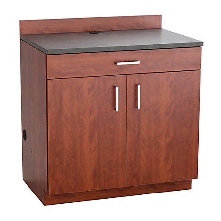 Safco Modular Hospitality Base Cabinet 2 Door1 Drawer Mahoganyrustic Slate By Office Depot