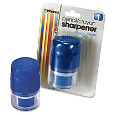 OIC Twin PencilCrayon Sharpener wCap Holes25