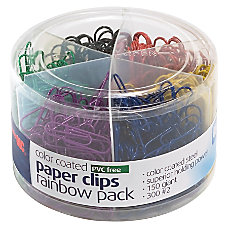 Officemate Nylon Coated Paper Clips 38