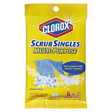 Clorox ScrubSingles Decide A Size Cleaning