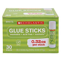 Scholastic Glue Sticks 032 Oz Clear