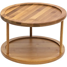 Lipper Bamboo Turntable 2 Tier