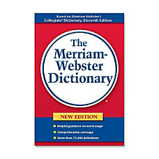 Merriam Webster Paperback Dictionary Dictionary Printed