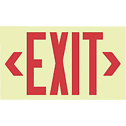 GLO BRITE ECO UNFRAMED EXIT SIGNS