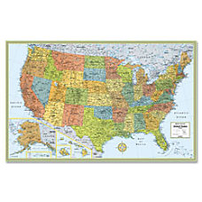 Rand McNally Deluxe Laminated Wall Map