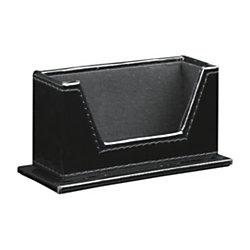 Divoga black patent business card holder by office depot for Officemax business card holder