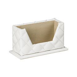 Divoga white quilted business card holder by office depot for Officemax business card holder