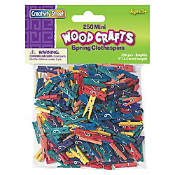 ChenilleKraft WoodCrafts Bright Mini Clothespins Mini