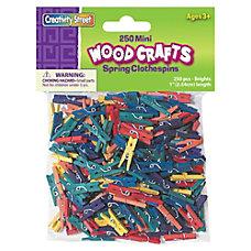 ChenilleKraft WoodCrafts Bright Mini Clothespins Mini
