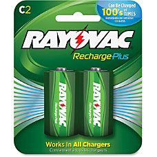 Rayovac Recharge Plus C Batteries 3000
