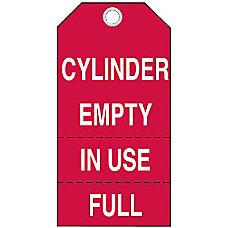 Brady Cylinder Status Tags Cylinder EmptyIn