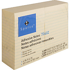 Sparco Ruled Adhesive Note 100 4