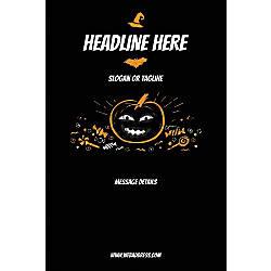 Custom Vertical Poster Black Halloween
