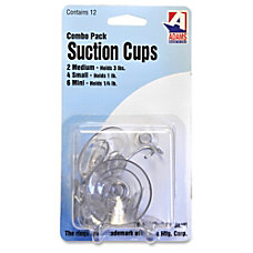 Adams Suction Cups 12 HookMetal Plastic