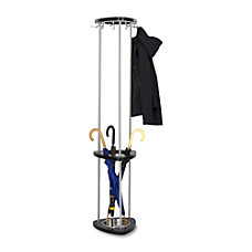 Safco Wood Costumer With Umbrella Rack