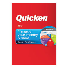 Quicken Deluxe 2017 Traditional Disc