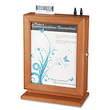 Safco Wood Suggestion Box 14 12