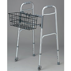 Medline 2 Button Walker Basket 5