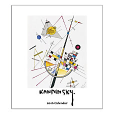 Retrospect Monthly Desk Calendar Kandinsky 6