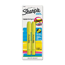 Sharpie Accent Gel Highlighters Yellow Barrel